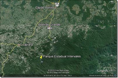 Intervales - mapa